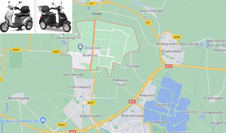 Scootmobiel kopen Boskoop Groenswaard Waddinxveen