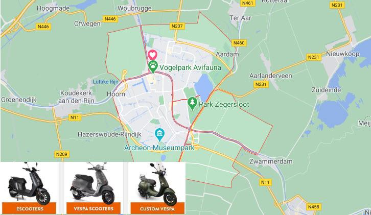 scooter kopen alphen aan den rijn